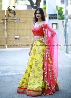 Dress Long Pink Shades Ideas For 2019 Half Saree Lehenga, Bridal Lehenga Choli, Silk Lehenga, Saree Dress, Gown Dress, Lehnga Blouse, Floral Lehenga, Banarsi Saree, Half Saree Designs