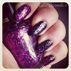 Milani Jewel FX, Fuchsia and Lavender #nails #glitter