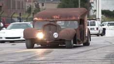 This unique 1948 Dodge Milk Truck from Holland Dairy has been put back on the streets with a few borrowed parts. Rat Rod Cars, Hot Rod Trucks, Fire Trucks, Semi Trucks, Vw Cars, Diesel Rat Rod, Diesel Trucks, Custom Muscle Cars, Custom Cars