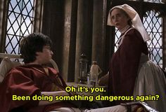 When Madam Pomfrey knew exactly what Harry was about.