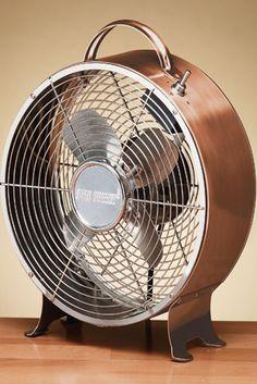 Deco Breeze Multi Colored 9 Inch Retro Metal Fan Copper