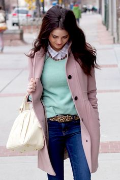 Although pastels are associated with summer and spring, they can be utilized for winter as well. Get a merry outfit simply by wearing pastel coats.