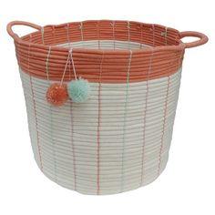 Large Storage Basket - Pom Pom Coral - Pillowfort™ : Target