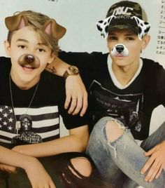 awwwee tthey look so cute with the snapchat dog filter on them  ooopss -finger slipped- #one of the Bambinos #BAM4life, anyone agree?