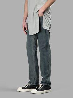 RICK OWENS DRKSHDW Rick Owens Drk Shdw Men'S Blue Berlin Cut Jeans. #rickowensdrkshdw #cloth #jeans