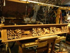 "carved mantels | Pecan Hollow Mantel"" (above) ""Winterset Mantel"" (above) ""Alberta ..."