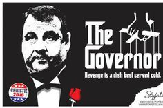 """""""The Governor - Revenge is a dish best served cold."""" (Editorial Cartoon on Chris Christie - US News) Chris Christie, State Of The Union, Potpourri, New Jersey, Revenge, Editorial, Politics, Cartoon, Education"""
