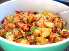 potato salad peaches 003