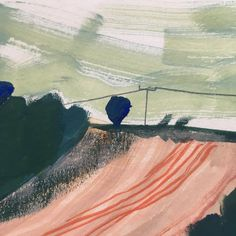 landscape painting by Charlotte Ager Landscape Drawings, Abstract Landscape, Landscape Paintings, Art Drawings, Illustration Sketches, Illustrations, Tinta China, Beautiful Drawings, Art Inspo