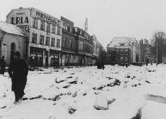 Kruiend ijs, gezien in de richting van de Lage Markt in 1929.