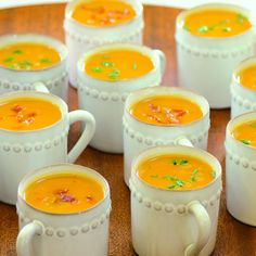Menu: warm comfort food. Try your favorite soups and pair with grilled cheese sandwiches cut in strips. this link: Sweet-Potato Soup with Prosciutto Crisps. Go retro: serve soups in a crock pot- no fuss so the host can party.