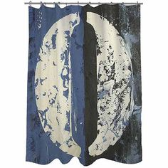 Thumbprintz Vintage Numbers 10 Shower Curtain, 71 inch x 74 inch, Blue