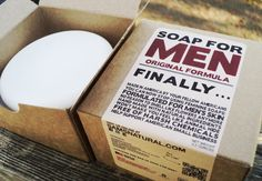 Soap for Men Made Specifically for a Man's Skin $8.95