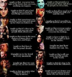 Lessons Harry Potter taught us....