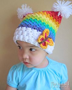CROCHET PATTERN Over the Rainbow a colorful square by TheHatandI