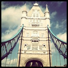 Tower Bridge, London    Was able to see this decorated with the gold rings for the 2012 Olympics!