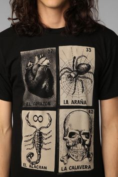 Loteria Cards Tee -- i need this! Mens Tee Shirts, Cool Shirts, Burgundy Leather Jacket, Loteria Cards, Blue Mom Jeans, Cool Graphic Tees, Presents For Men, Ladies Boutique, Printed Shirts