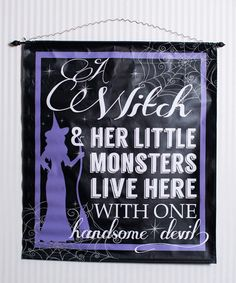 'A Witch and Her Little Monsters' Banner #zulily #zulilyfinds