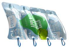 Des sacs biodégradables, fabriqués à partir de polymères dérivés de vraie nourriture. Autre exemples ici:   http://www.fastcoexist.com/1680295/the-food-packaging-of-the-future-from-germ-killing-to-entirely-edible#2