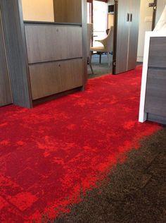 Interface carpet tiles -product: urban retreat custom color.