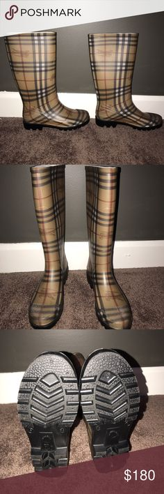 Rain boots Used twice ( not my style) Burberry Shoes Winter & Rain Boots