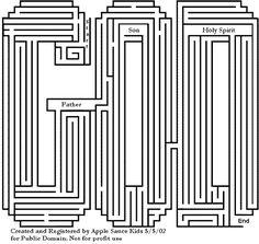 Free Printable Trinity Maze