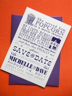 adorable save the date with fun typography
