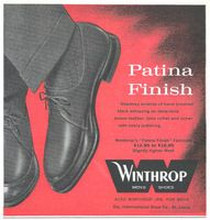 Winthrop Mens Shoes 1959 Ad Picture