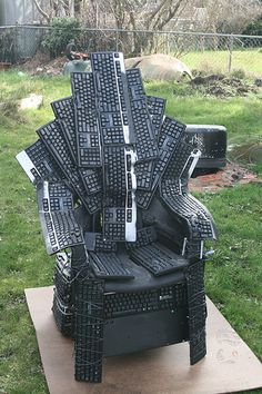 The Throne of Nerds -- when the Nerds rise up and beat their keyboards into a Throne for the King Geek