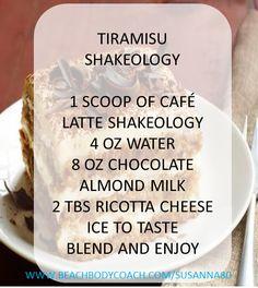 Tiramisu Shakeology Recipe using cafe latte shakeology