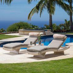 Portofino Comfort 3-piece Chaise Loungers in Kona Taupe
