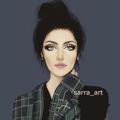 Sara Ahmed (@sarra_art) • Instagram photos and videos Cute Cartoon Girl, Cartoon Pics, Girly Drawings, Cartoon Drawings, Sarra Art, Girly M, Draw On Photos, Beautiful Sunrise, Beautiful Anime Girl