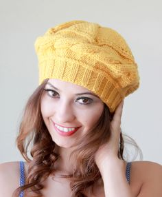 winter is on the corner. keep your head warm with this knit hat.