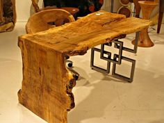 What a great desk this would be!   Live Edge Furniture    Phillips Collection