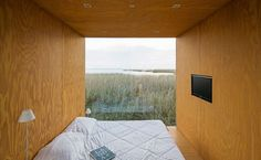 Beautiful prefab house called the Mini Mod by MAPA architecture. What a view to wake up to...