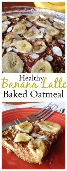 #Healthy Banana Latte Baked Oatmeal will become one of your new favorite breakfasts! #vegan #glutenfree