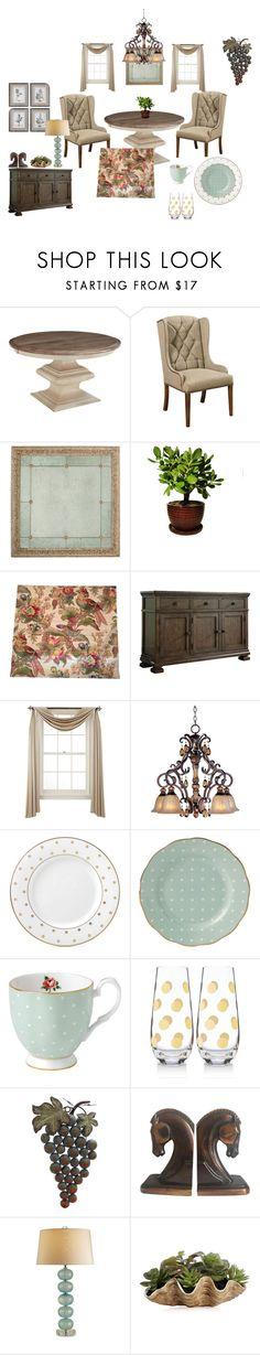 """Shall we dine?"" by diana-evans-1 ❤ liked on Polyvore featuring interior, interiors, interior design, home, home decor, interior decorating, DutchCrafters, Liz Claiborne, Kate Spade and Royal Albert"
