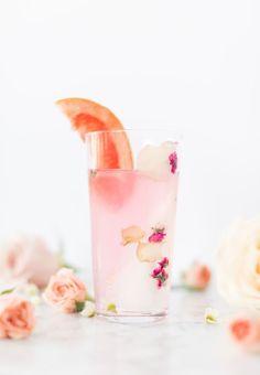 Smoking Rose Paloma cocktail | Craftandcocktails.co