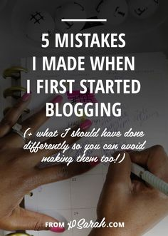 Seven years, one freelance business, over 1.5 million pageviews, and almost 9,000 comments later I have finally got it figured out, so here are five of my beginner blogging mistakes and how I should have gone about things differently. That way you can skip all this stuff and get straight to being a blogging badass :)