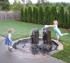 Beautiful Garden Fountain Ideas I love these fountains because you get the soothing water sound but they are safe for children and pets.I love these fountains because you get the soothing water sound but they are safe for children and pets. Backyard Water Fountains, Backyard Water Feature, Outdoor Fountains, Backyard Splash Pad, Solar Fountains, Wall Fountains, Diy Water Feature, Ponds Backyard, Outdoor Water Features