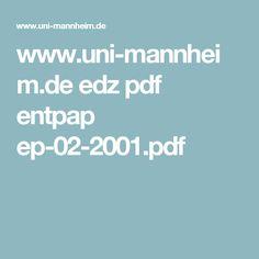 www.uni-mannheim.de edz pdf entpap ep-02-2001.pdf