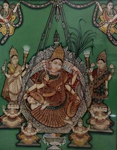 Mysore Painting, Tanjore Painting, Spiritual Stories, Hindu Art, Buddhist Art, Traditional Paintings, Gods And Goddesses, Mythology, Antiques