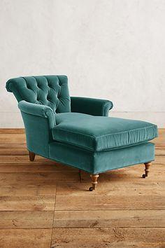 Velvet Gwinnette Chaise Lounge #anthropologie