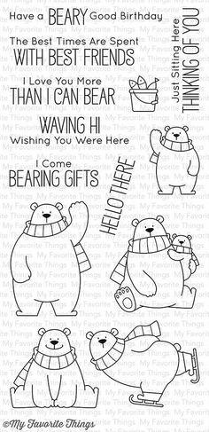 MFT STAMPS: Polar Bear Pals