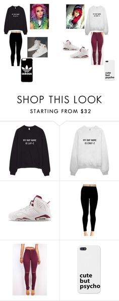 """""""Untitled #212"""" by paige-york0215 on Polyvore featuring beauty, NIKE, adidas and Jordan Brand"""