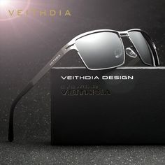 Stainless Steel Men's Polarized Driving Sunglasses. FREE Shipping!!
