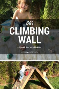 New backyard projects for kids climbing wall Ideas Small Backyard Landscaping, Backyard Garden Design, Backyard Projects, Backyard Patio, Backyard Toys, Wedding Backyard, Backyard Designs, Big Garden, Family Garden