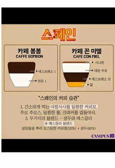 인포저장소: 유럽의 커피 종류 및 스타일 정리