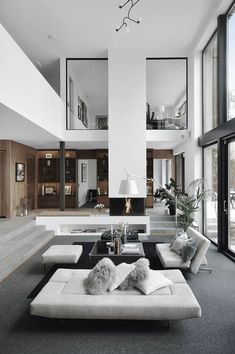Luxury Loft Apartment Décor Inspirations - Modern and Contemporary Interior Design Projects, best decor books Loft Apartment Decorating, Design Apartment, Studio Apartment, Loft Decorating, Decorating Ideas, Apartment Interior, Interior Minimalista, Ppt Design, Deco Design