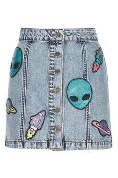 **Give Me Space Button Down Skirt by Kuccia